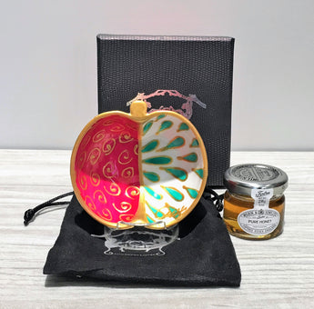 Hand painted Ceramic Apple Dish for Jewish New Year