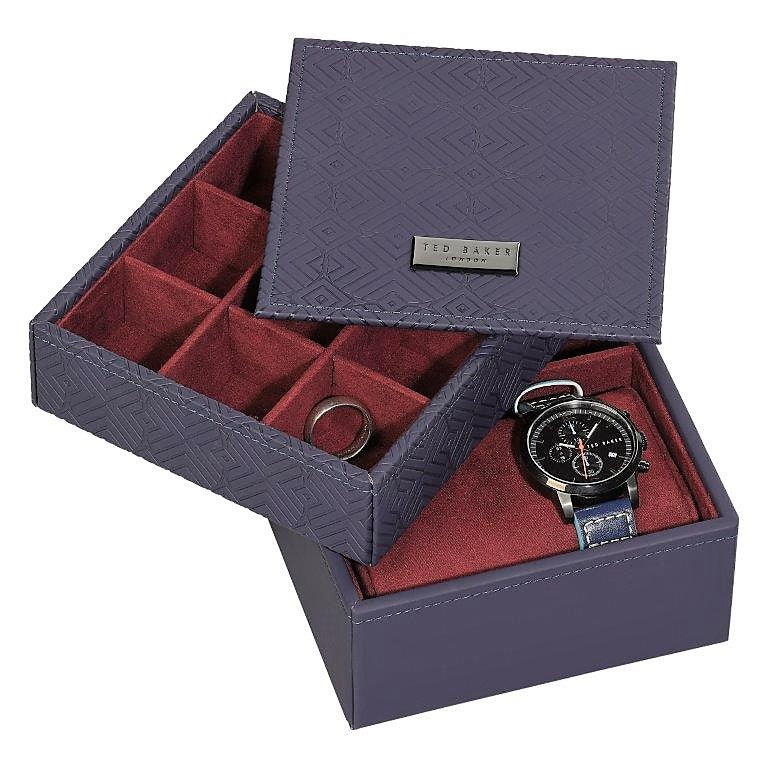Accessory Box in Blue Cadet by Ted Baker