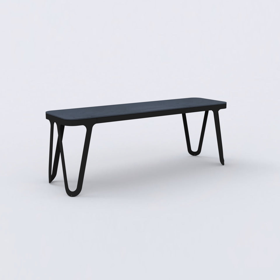 Loop Bench Oak black stained
