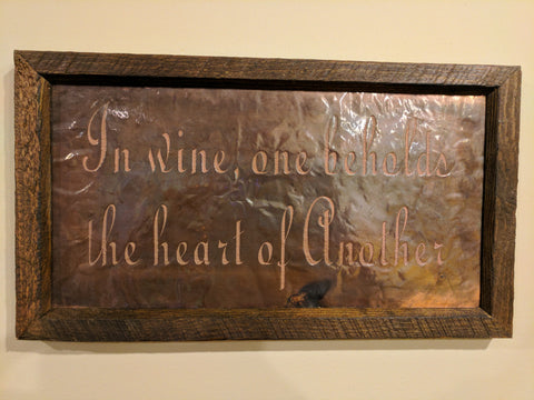 In Wine One Beholds the Heart of Another Copper Engraving