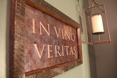 IN VINO VERITAS Copper Engraving