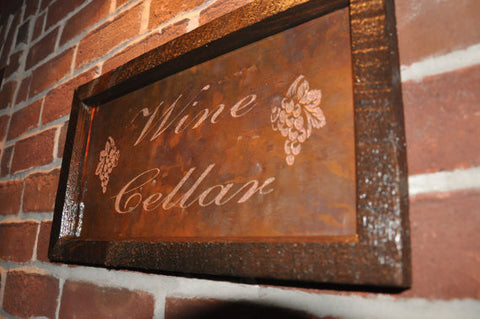 Wine Cellar Copper Engraving
