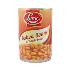 LUNA BAKED BEANS IN TOMATO SAUSE 400GR