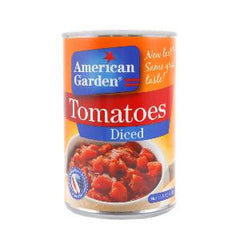 AMERICAN GARDEN DICED TOMATOES 411 GR