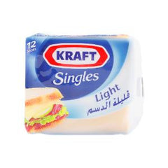 KRAFT SINGLES LIGHT 216 GM