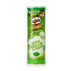 PRINGLES POTATO CHIPS SOUR CREAM ONION 165 GR