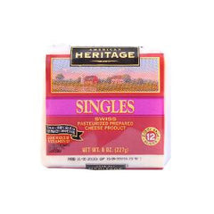 AMERICAN H.SINGLES SWISS SLICE CHEESE 227 GM