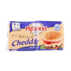 PRESIDENT BURGER CHEDDAR SLICES 400 GR 20 PCS