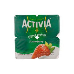 ACTIVIA STRAWBERRY 120 GR 4 PCS