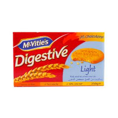 MCVITIES BISCUITS LIGHT DIGESTIVE 250 GR52007
