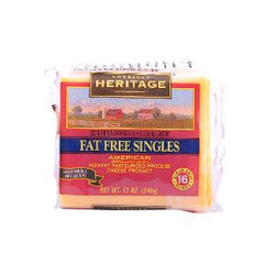 AMERICAN H.FAT FREE AMERICAN SLICE CHEESE 340 GM