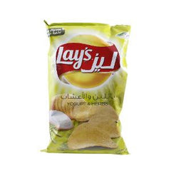 LAY'S POTATO CHIPS YOGHURT& HERBS 170 GR