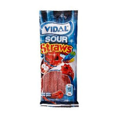 VIDAL SOUR STRAWBERRY CANDY FRUIT 100 GR