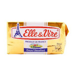 ELLE&VIRE UNSALTED BUTTER 60 % FAT 200 GM