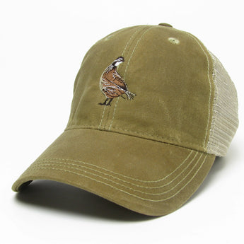 Waxed Cotton Trucker Style Hat Khaki