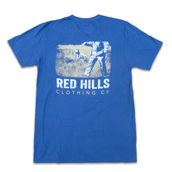 Hunt Scene Short Sleeve Tee Shirt Blue