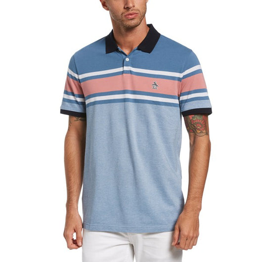 ENGINEERED CHEST STRIPE POLO SHIRT