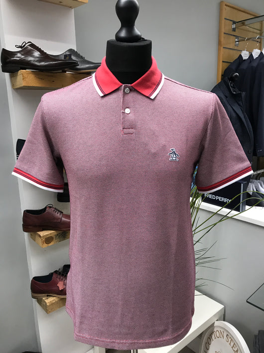 Tipped Jacquard  Polo
