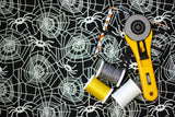 Ready, Set, Glow! Halloween Spiderweb Black