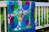 Charming Stars Over Lake Minocqua Batik Quilt Kit
