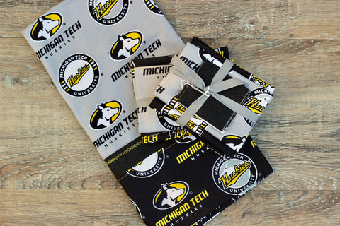 Michigan Tech Cotton Pillowcase Kit: Gray with Black