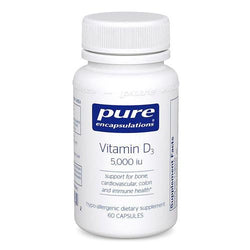 Pure Encapsulation Vitamin D3 5,000 IU (60 Capsules) *