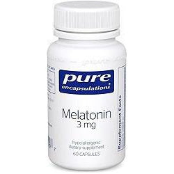 Pure Encapsulation Melatonin 3mg (60 Capsules)