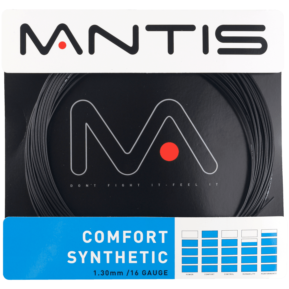 MANTIS Comfort Synthetic 16 Junior Size Tennis Restring