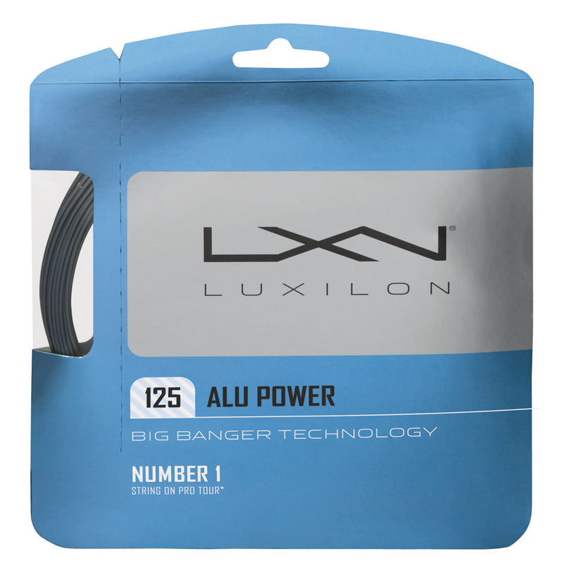 Luxilon Big Banger Alu Power 16L Adult Size Tennis Restring