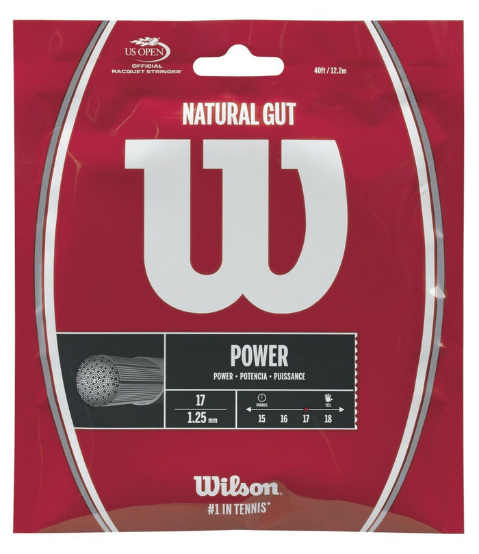Wilson Natural Gut 17 Restring