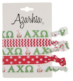 Hair Tie Pack - Alpha Chi Omega