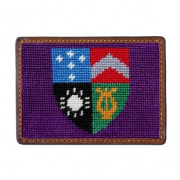 Needlepoint Card Wallet - Delta Tau Delta