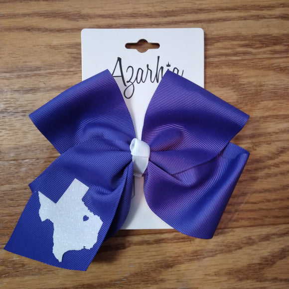 Purple Texas Hair Bow