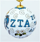 Kitty Keller Christmas Ornament - Zeta Tau Alpha