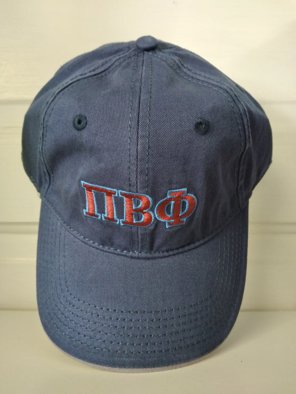 Navy Embroidered Cap - Pi Beta Phi