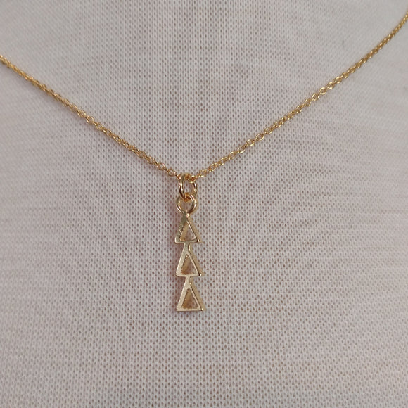 18K Gold Dipped Drop - Delta Delta Delta