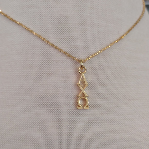 18K Gold Dipped Drop - Alpha Chi Omega