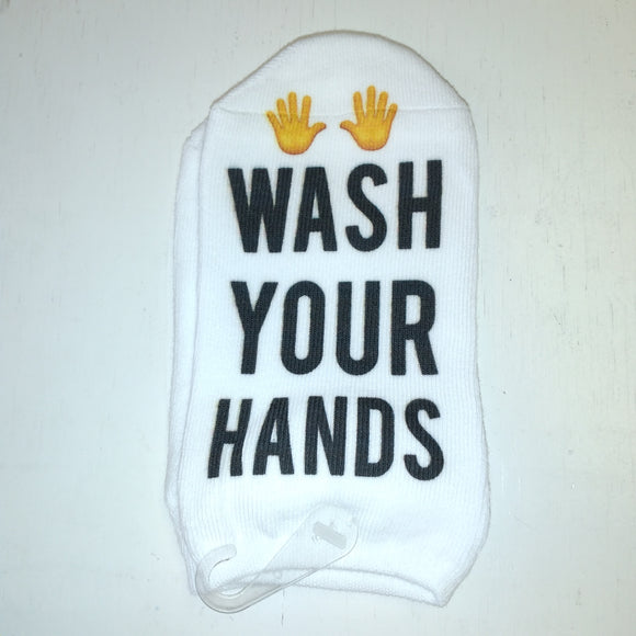 No-Show Socks - Wash Your Hands
