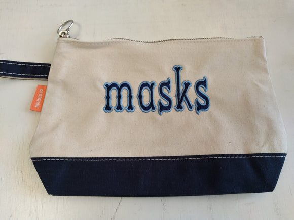 Mask Storage Bag - Outlined Western