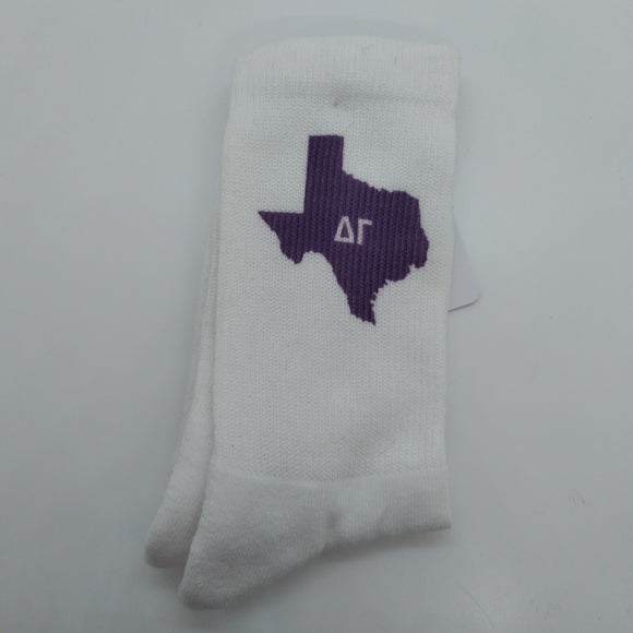 Purple Texas Socks - Delta Gamma