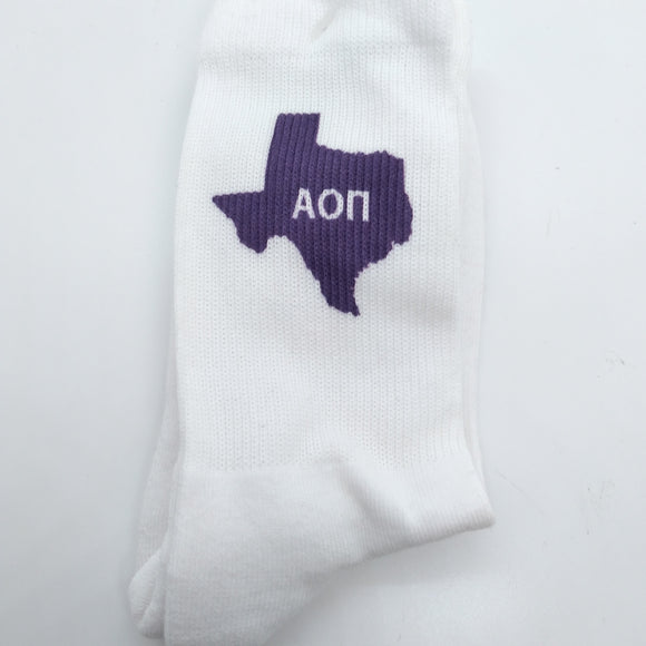 Purple Texas Socks - Alpha Omicron Pi