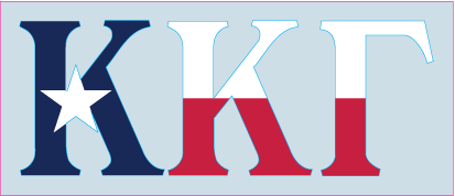 Kappa Kappa Gamma- Texas Flag Decal