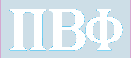 White Decal - Pi Beta Phi