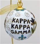 Kitty Keller Christmas Ornament - Kappa Kappa Gamma