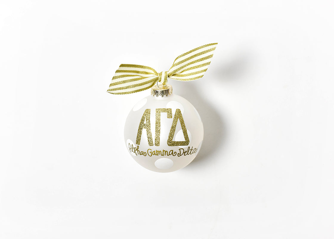Coton Colors Gold Glitter Ornament - Alpha Gamma Delta
