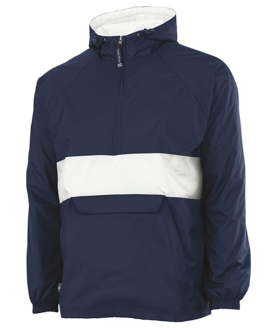 Charles River Striped Pullover Navy/White Style 9908