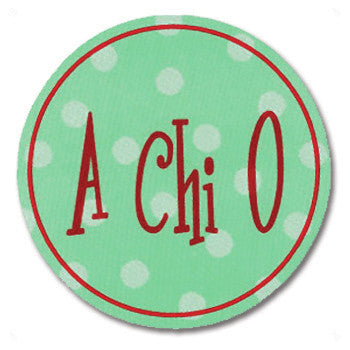 Circle Bumper Sticker - Alpha Chi Omega