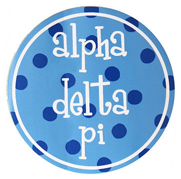 Circle Bumper Sticker - Alpha Delta Pi