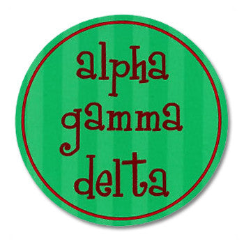 Circle Bumper Sticker - Alpha Gamma Delta
