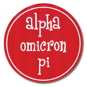 Circle Bumper Sticker - Alpha Omicron Pi
